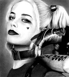 Margot Robbie - Harley Quinn by Doctor-Pencil