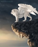 White Winged Lion by Vanory