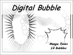 Digital Manga bubbles by bakenekogirl
