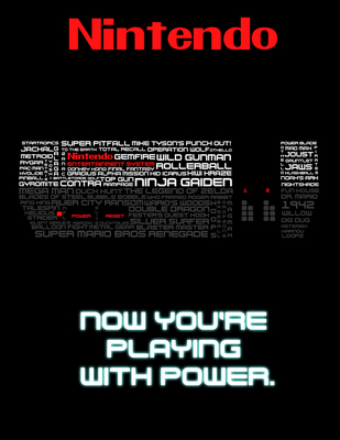 A Blast From The Past - NES Typography Poster by papermario13689