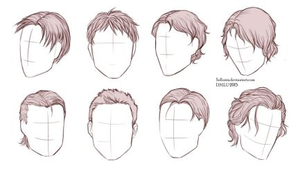 Male Hairstyles by Sellenin