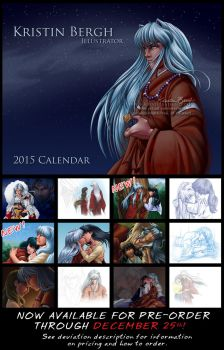 2015 Inuyasha Calendar: DEADLINE MOVED TO 12/28! by KrisCynical