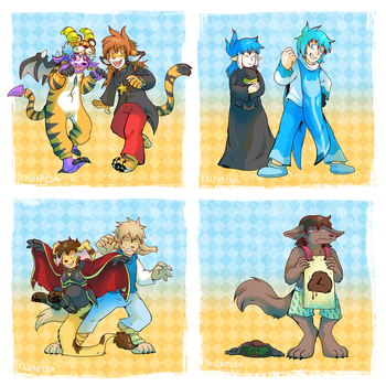 TwoKinds and Slightly Damned Clothing Swap by raizy