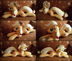 Lifesize Applejack plush by RosaMariposaCrafts