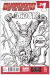 GROOT Guardians of the Galaxy SKETCH COVER Art by DRHazlewood