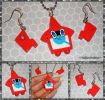 Pokemon Sun and Moon - Rotom PokeDex Jewelry Set
