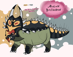 [Pokemon Variations] Alolan Bastiodon by MatthewOnArt