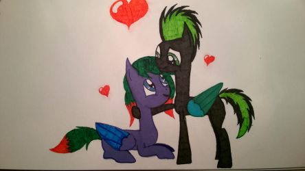 Valentine's drawing by ElectricNight22