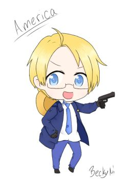 Police!America [APH] by WolfieAngel1207