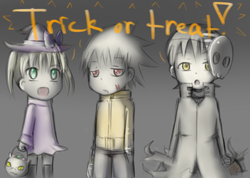 Little Trick Or Treaters(fixed) by Dream-Paint