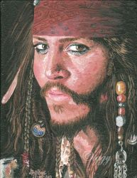 Captain Jack Sparrow by iggytheillustrator
