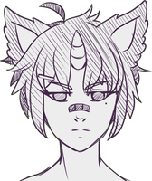 Sketch Headshot for Syelet 3 by x-Cute-Kitty-x
