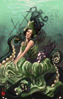 Underwater Pinup by ArtbyGloriaColom