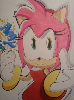 Amy rose by iikelyons98