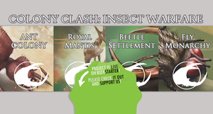 Colony Clash: Insect Warfare Kickstarter Banner by toadking07