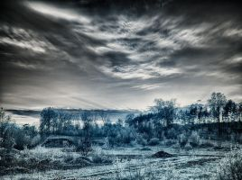 Infrared Sunset HDR (IR) by KBeezie
