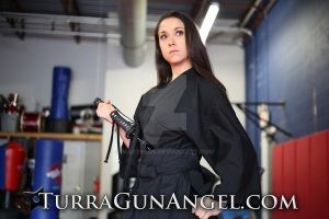 Rachel Alig Katana training for Turra : Gun Angel by martheus