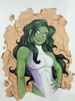 She-Hulk by birdiebo