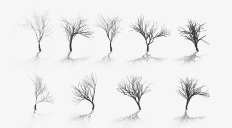 Tree Brushes First Sample by al-pa-vi