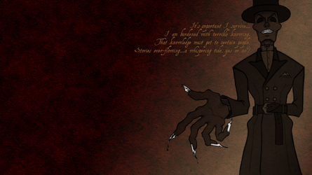 The Death of Dr. Armitage-textured wallpaper by MelAddams