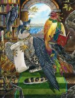 Avian Librarians - Art for Winged Fantasy by windfalcon
