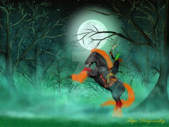 Galloper Thompson and his horse by Unicorn-Woodland