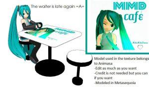 MMD Cafe Table + DL by Aira-Melody