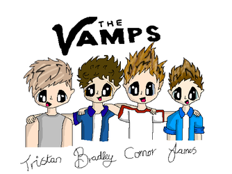 The Vamps In Colour by Bubblegumartt