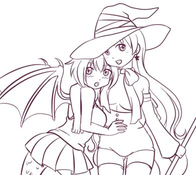 Witch and Dragon by Sekikumo