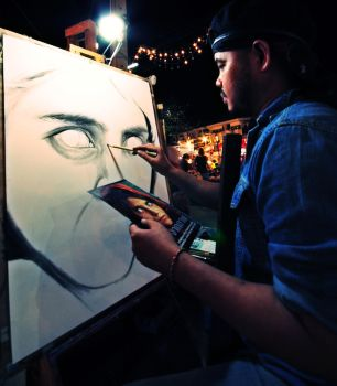 drawing famous picture by warain