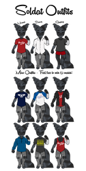 Soldat Outfits - Anthro by Saldemonium
