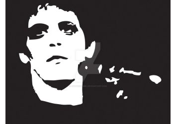 Lou Reed Stencil by gothicsqwrl