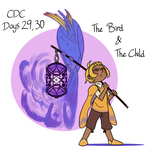 CDC - Days 29/30 - The bird and The child by mel-de-ly