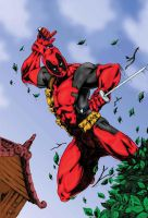 DEADPOOL colored by Pascal Verhoef by Mykemanila