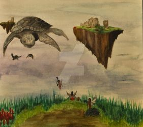 Flying Turtle by WantedForTreason