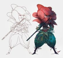 Rose Samurai by RodrigoICO