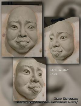 FACE-A-DAY 8/20 sculpture by Monstermann