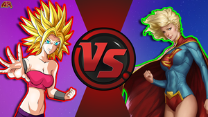 CFC|Caulifla vs. New 52 Supergirl by Vex2001
