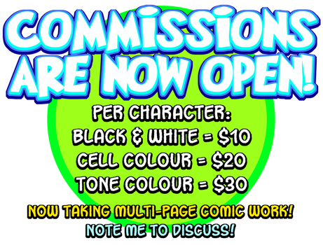 Comic Commissions Available! by curtsibling