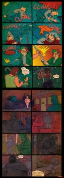 Hotline Miami : Subway comic by basklin