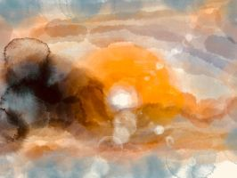 sun behind clouds by KateHodges