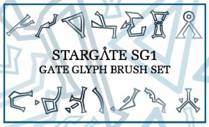 Stargate Glyphs Brush Set by maerad-of-pellinor