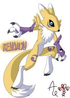 Renamon - Colored by AR-ameth