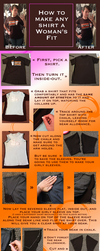 How to Make Any Shirt a Woman's Fit by kuramachan