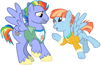 Bow and Windy by cheezedoodle96