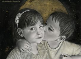 I Have Drawn The Moon For You by iSaBeL-MR