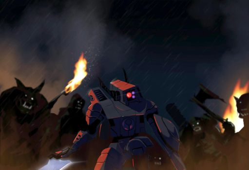 Farsight versus the Orks by Seothen