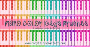Piano color keys pattern by Coby17