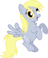 Derpy as Rainbow Dash Position by greendwarf333