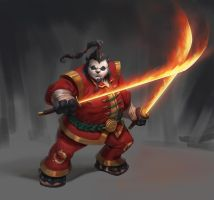 Pandaren fire Spirit by Izzual
